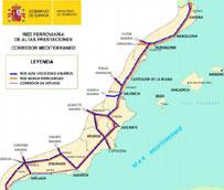 Fomento aprueba una inversión global de 112,5 millones de euros en el Corredor Mediterráneo