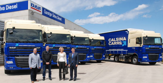 DAF entrega al grupo catalán de transporte Calsina Carré cinco unidades de su modelo XF