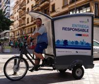 Seur evita la emisión de casi cuatro toneladas de CO2 gracias al reparto en bicicleta ecológica en Sevilla