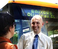 Las líneas de Baixbus circulan, durante el mes de julio, con un autobús propulsado por gas natural