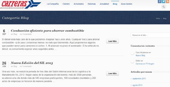 Carreras Grupo Logístico lanza el primer 'blog' corporativo del sector que será actualizado una vez por semana