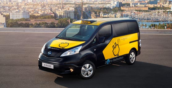 Nissan presenta el taxi eléctrico de Barcelona e-NV200 que también se empleará para reparto de mercancias