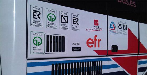 Interurbana de Autobuses suma dos nuevos certificados de eficiencia Aenor