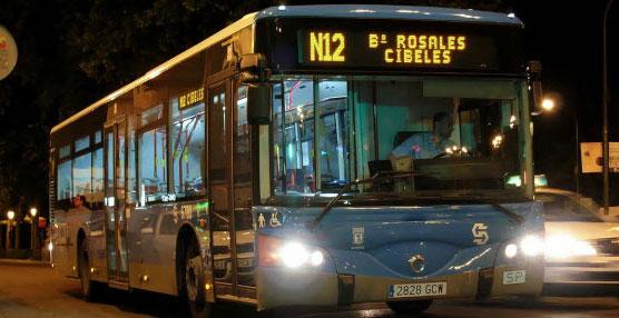 Bus nocturno de Madrid.