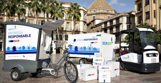 La nueva flota ecológica de SEUR formada por bicis, motos, triciclos y vehículos eléctricos.