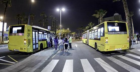 El número de usuarios del transporte público disminuye un 1,9% en julio respecto al mismo mes del año anterior