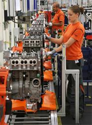Una de las plantas de producción en las que se ensambla el modelo EcoBoost