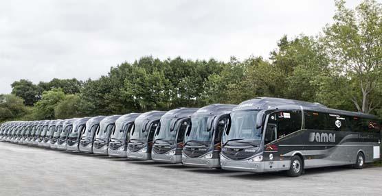 Volvo entrega 21 nuevos autobuses del modelo B11R al Grupo Samar