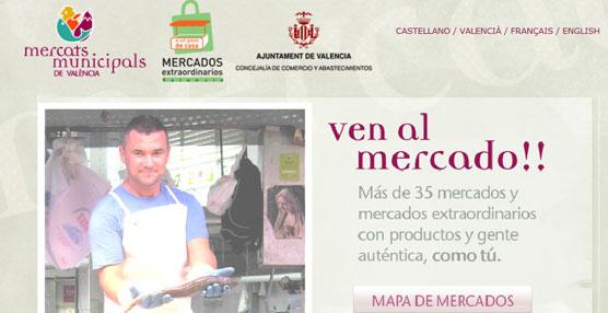 EMT Valencia difunde en sus marquesinas cómo desplazarse de manera sostenible a los mercados de la ciudad
