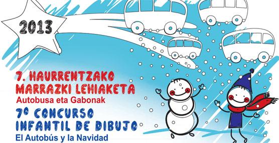 """VII Concurso Infantil de Dibujo """"El autobús y la Navidad"""" organizado por Dbus y el Mercado de San Martín"""