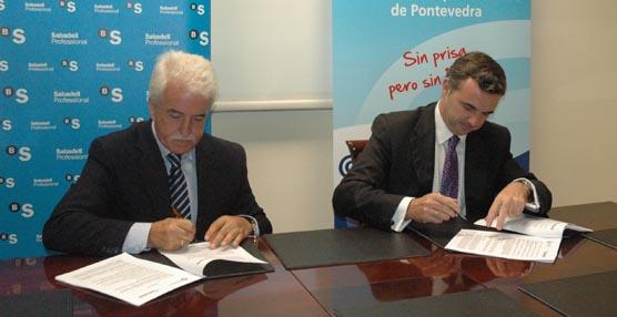 SabadellAtlántico firma un convenio con la Asociación de Empresarios de Transportes de mercancías de Pontevedra