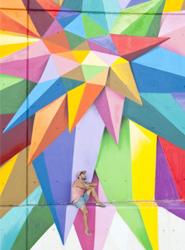 'Okuda', un artista internacional del graffiti, pintará un 'bigote solidario' en la fachada de una empresa de transporte