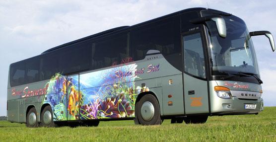 Un modelo Setra S 416 GT –HD con un diseño del mundo submarino es escogido 'Most Beautiful Bus of 2013'