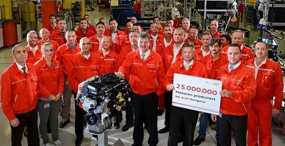 La planta de Audi en el municipio húngaro de Györ alcanza la cifra de 25 millones de motores producidos