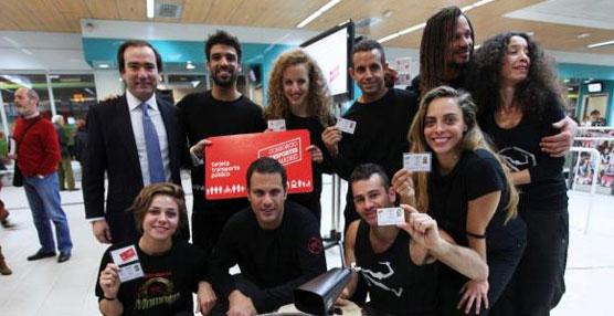 El grupo Mayumana anima a los madrileños a moverse en transporte público con la nueva Tarjeta de Transporte