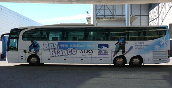 El 'Bus Blanco' conectará Madrid y Sierra Nevada la próxima temporada de esquí