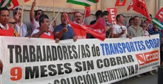 Protesta de trabajadores.