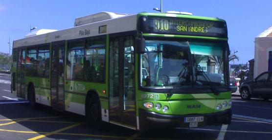TITSA dispondrá de un carril bus de uso exclusivo para La Laguna y ampliará los horarios durante la Noche en Blanco