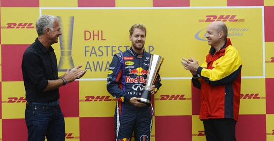 DHL entrega el premio a la Vuelta más Rápida 2013 a Sebastian Vettel, el Campeón del Mundo de Fórmula 1