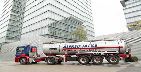 El test de carreteras de Lanxess determina que los camiones ahorran un 10% de combustible por los 'Neumáticos Verdes'