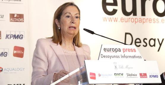 Pastor destaca un ahorro neto de 815 millones de euros en el Ministerio de Fomento tras el plan de austeridad