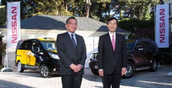 Nissan presenta su nuevo modelo de furgoneta eléctrica en la residencia del embajador de Japón en España