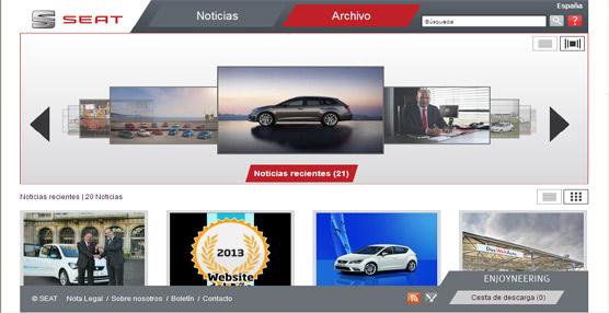 Los usuarios de Internet conceden a la página web de Seat España 'Mejor website de automoción 2013'