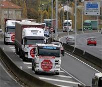 Movilización en defensa del sector del transporte de mercancías de Galicia