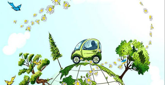 Representación de movilidad sostenible.