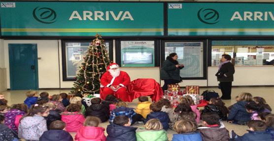 La empresa de transporte de viajeros Arriva Noroeste promociona el transporte público entre los más pequeños