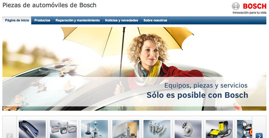 Bosch lanza su nueva página web de piezas y accesorios para el automóvil