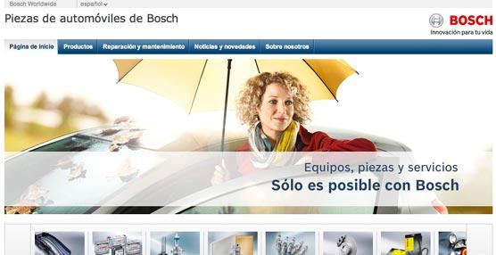 La Automotive Aftermarket de Bosch lanza en España un nuevo sitio web especializado en piezas y recambios