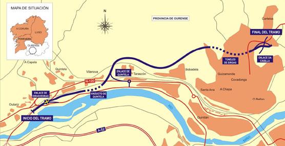 Fomento aprueba el expediente de información pública de la variante Norte de Ourense
