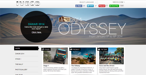 Iveco pone en marcha una web especial para estar al día de toda la información del Dakar 2014