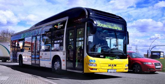 Uno de los autobuses urbanos de Llobregat y Hospitalet.