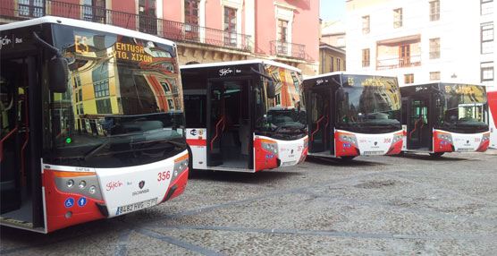 La flota de transporte urbano de Gijón contará con siete nuevas unidades Scania N 280 Versus City en servicio