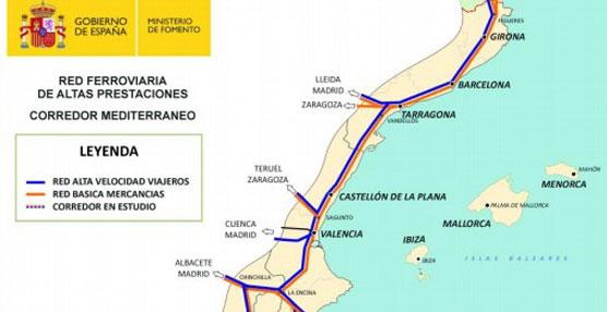 EL Ministerio de Fomento inicia las obras del Corredor Mediterráneo en la Comunidad Valenciana