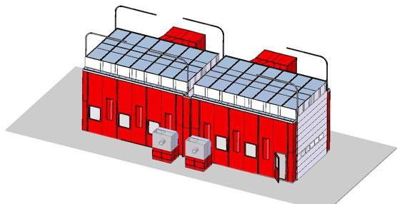 Geinsa suministra una cabina de pintura con dos módulos independientes a Metalpla