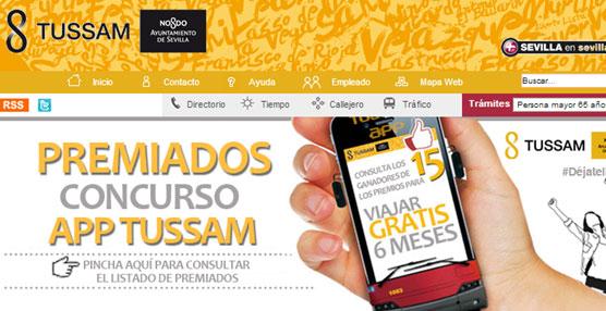 El servicio de recarga de títulos de viaje de Tussam a través de Internet alcanza las 10.000 recargas en tres semanas