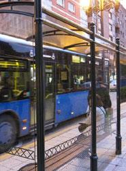 Parada de autobús de Oviedo.