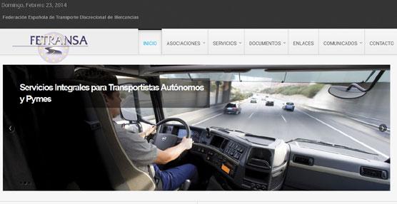 Fetransa presenta su nueva página web, cuya imagen y contenidos han sido totalmente renovados