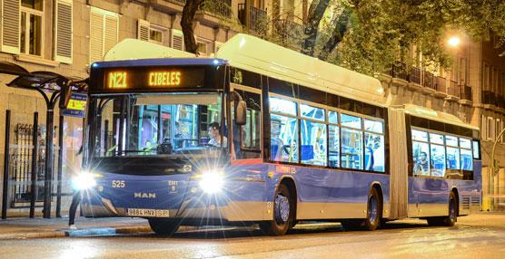 La EMT de Madrid refuerza el servicio nocturno con motivo del Sábado de Carnaval