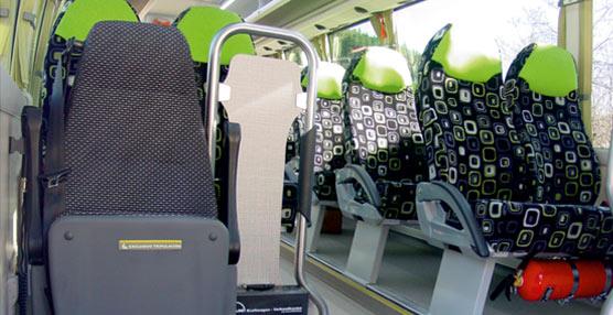 Imagen del interior del vehículo.