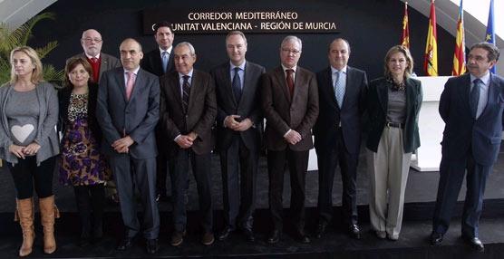Valcárcel y Fabra reafirman su compromiso por un Corredor Mediterráneo que sea una realidad para el año 2016