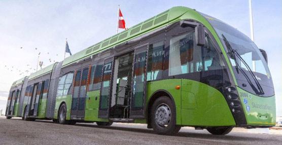 El fabricante Van Hool entrega la primera unidad del trambús Exqui City en la ciudad sueca de Malmö