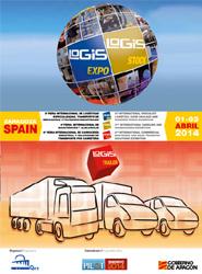 Cartel promocional de los salones Logis.