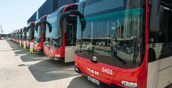 33 autobuses másde Transports Metropolitans de Barcelonadejan atrásel diesel y el GNC y se transforman en híbridos