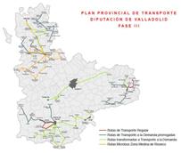 El Plan Provincial de Transporte de Valladolid incluye la tercera fase del transporte a la demanda