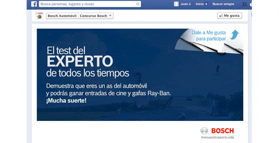 Bosch pone a prueba los conocimientos sobre el automóvil con el concurso en Facebook 'Experto de todos los tiempos'