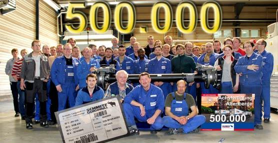 Schmitz Cargobull AG alcanza el medio millón de ejes desde que iniciara su fabricación en 2004